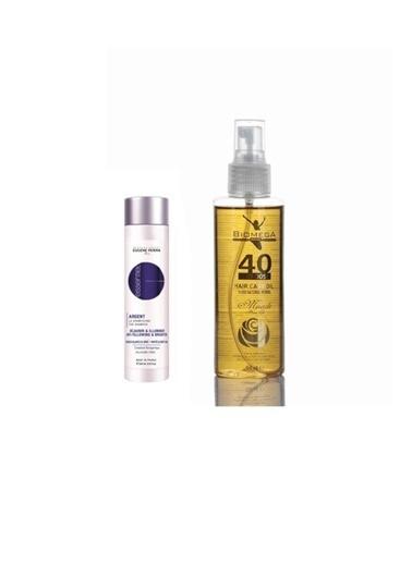Eugene Perma Eugene Perma Essentiel Silver Şampuan 250 Ml+Biomega 40 Bitkili Doğal Saç Bakım Yağı 150 Ml Renksiz
